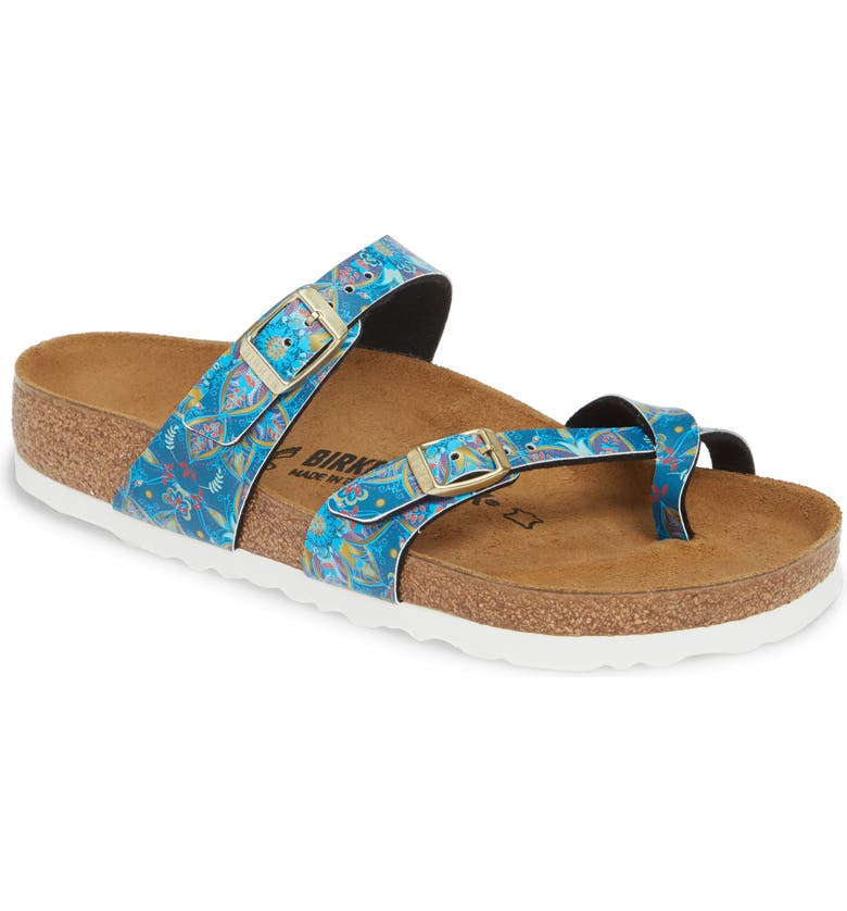 BIRKENSTOCK Mayari Bohemian Flower Sandal, Main, color, BOHEMIAN FLOWER BLUE