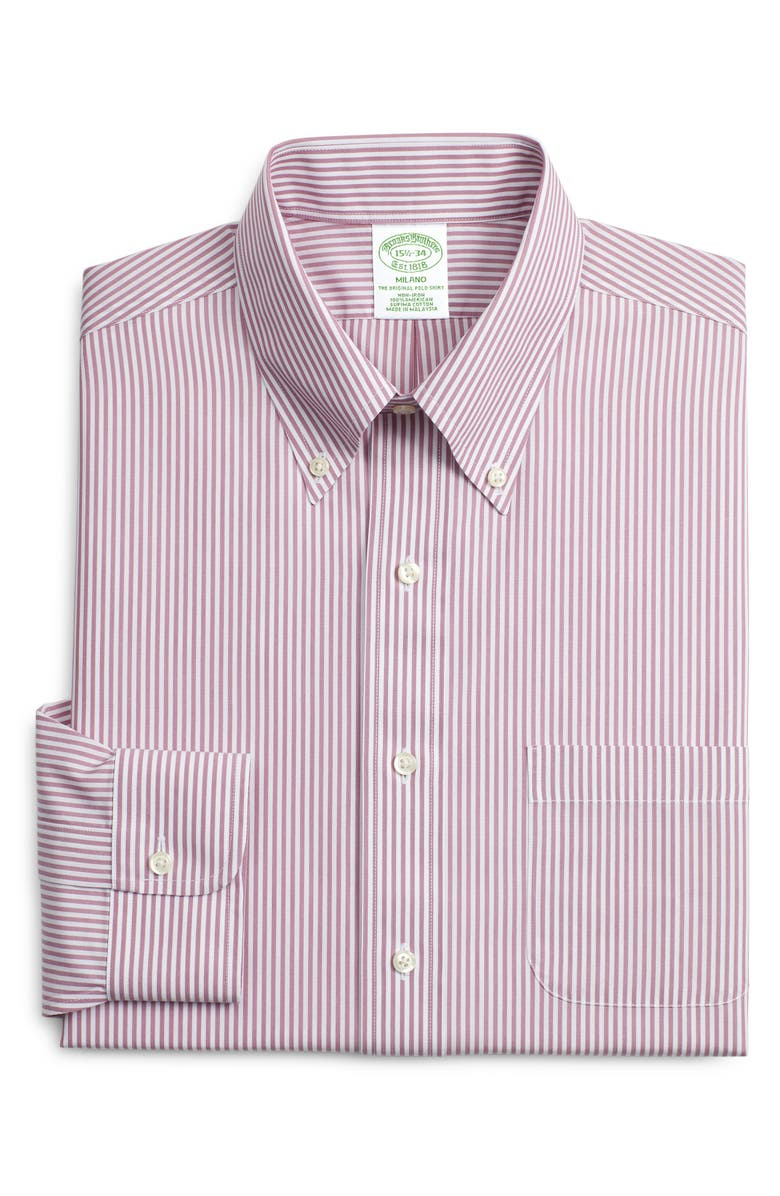 Brooks Brothers Milano Slim Fit Stripe Dress Shirt 3 For 207