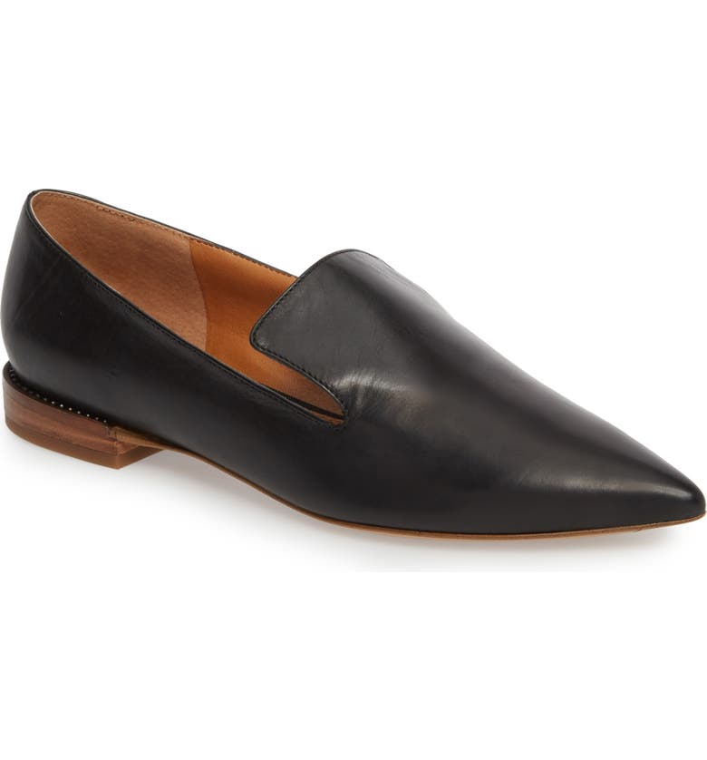 SARTO BY FRANCO SARTO Topaz Flat, Main, color, BLACK LEATHER