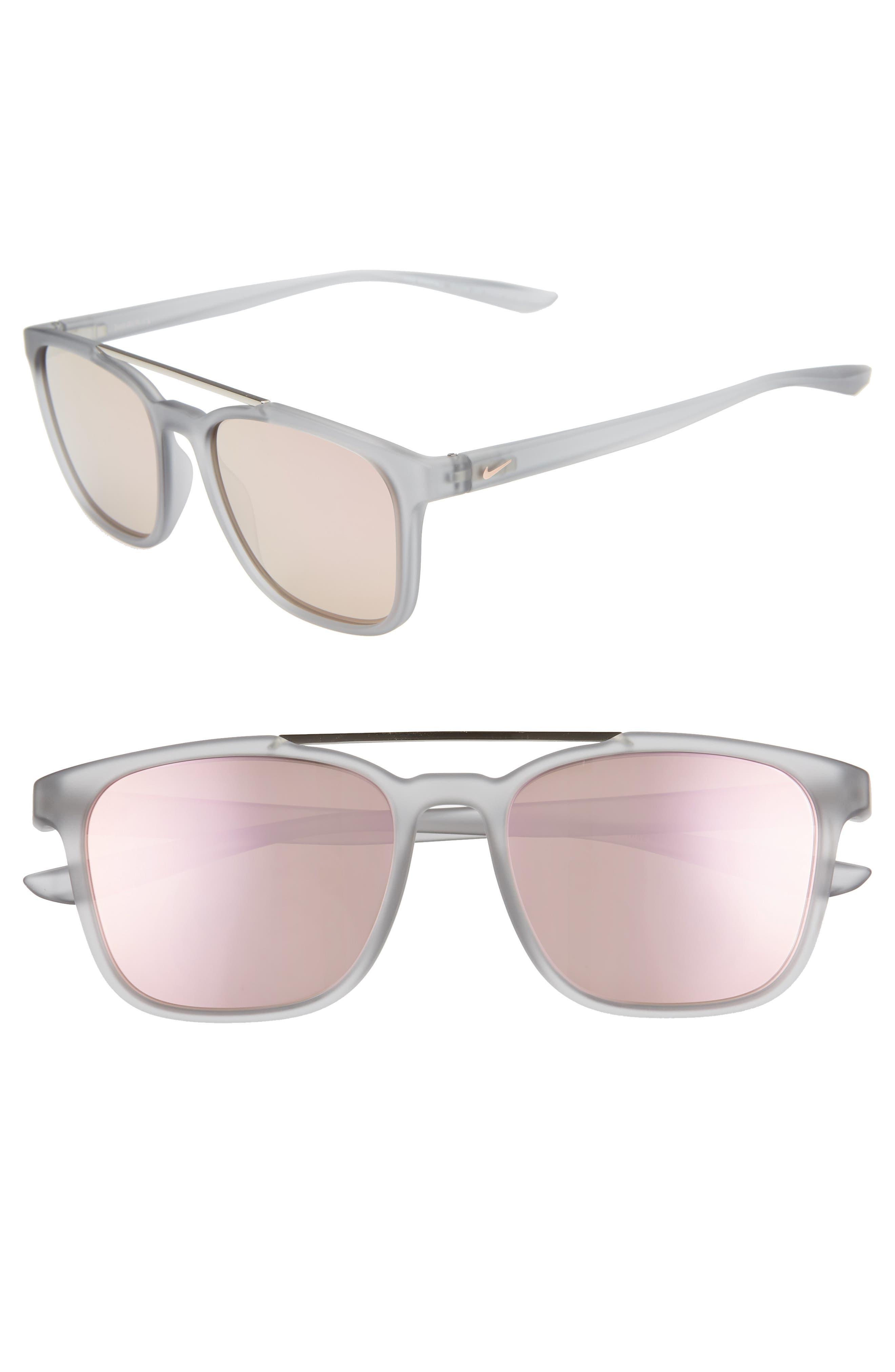 Nike Windfall 5m Square Sunglasses - Matte Wolf Grey/ Pink