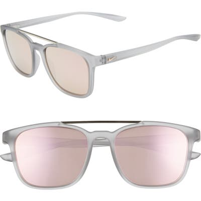 Nike Windfall 5m Square Sunglasses - Matte Wolf Grey/ Pink
