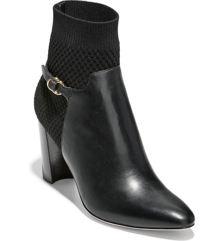 COLE HAAN Camille Water Resistant Bootie, Main, color, 001