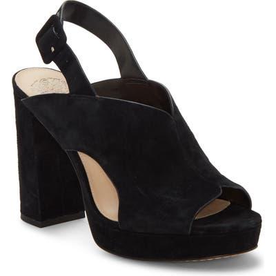 Vince Camuto Jeangel Platform Sandal- Black