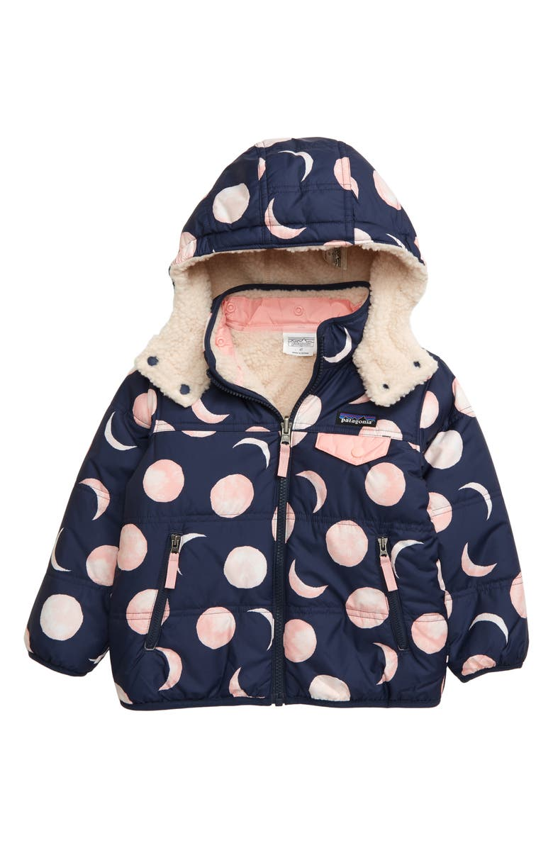 PATAGONIA Tribbles Reversible Hooded Jacket, Main, color, MANY MOONS ROSEBUD PINK