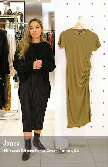 rag & boe Ina Ruched Midi T-Shirt Dress, sales video thumbnail