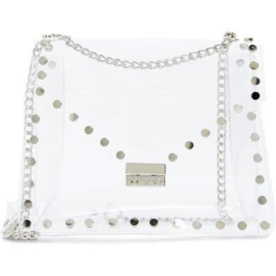 Knotty Studded Clear Shoulder Bag - White
