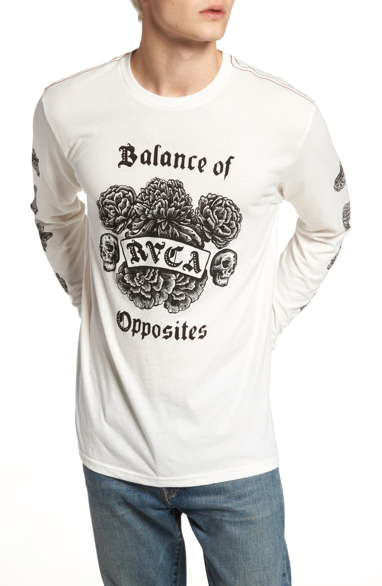 RVCA Rose Long Sleeve Graphic T-Shirt, Main, color, 111