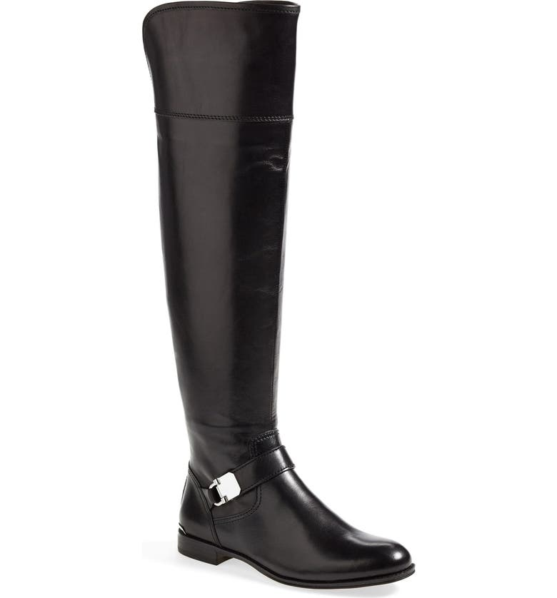 COACH 'Madeleine' Over the Knee Leather Boot, Main, color, 001
