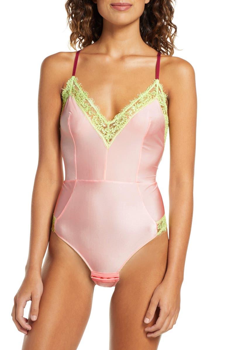 DORA LARSEN Clemence Soft Cup Bodysuit, Main, color, PALE ROSE