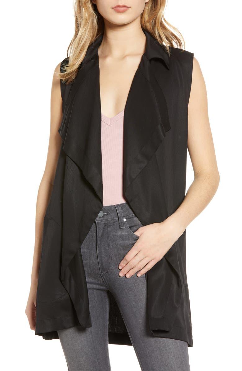 BB DAKOTA Wrap Star Belted Vest, Main, color, 001