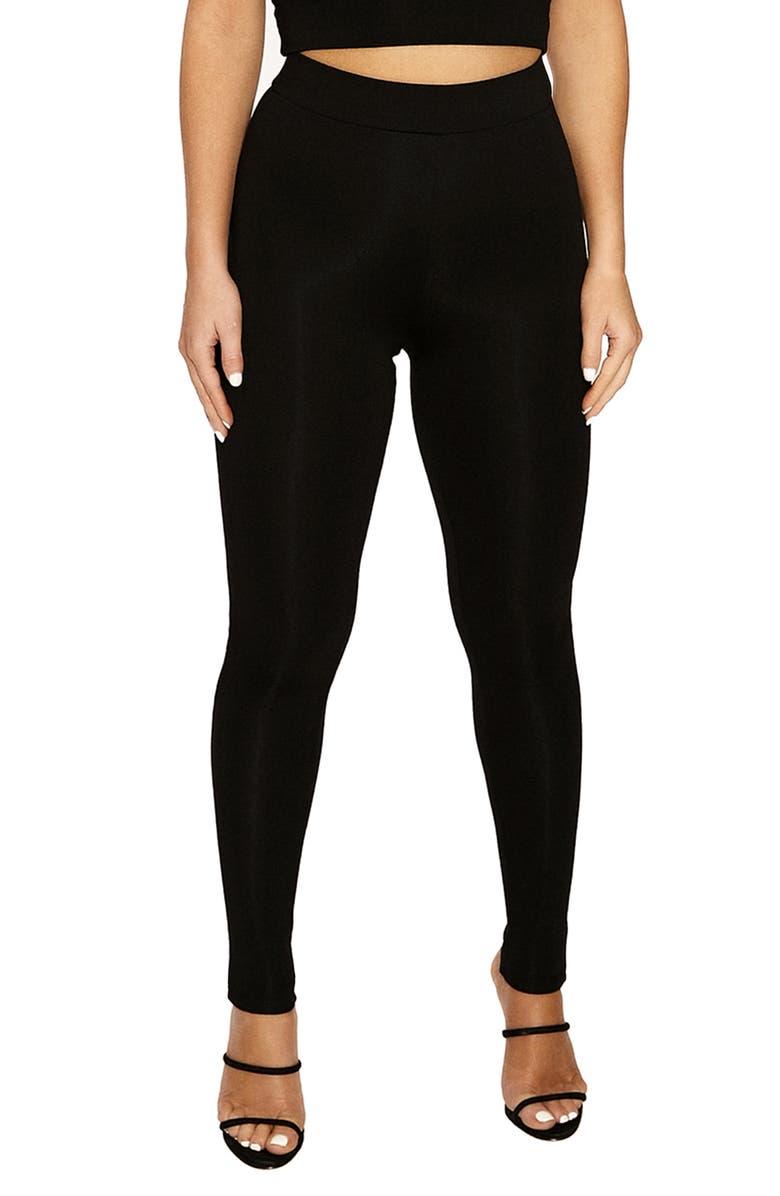 NAKED WARDROBE The NW High Waist Leggings, Main, color, 001