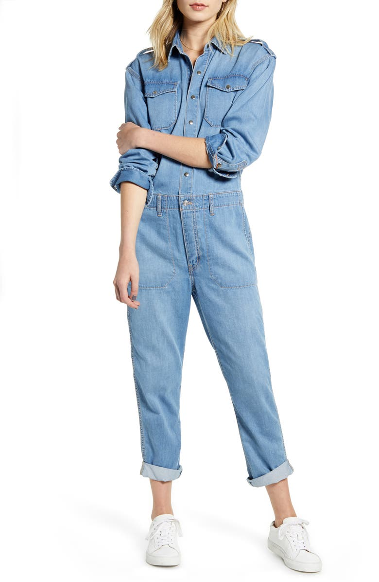 CURRENT/ELLIOTT The Crew Coverall Jumpsuit, Main, color, 400