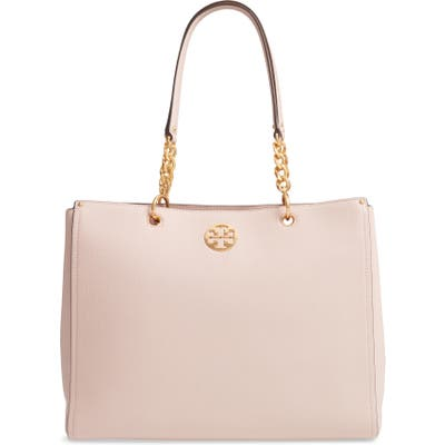 Tory Burch Everly Leather Tote - Pink