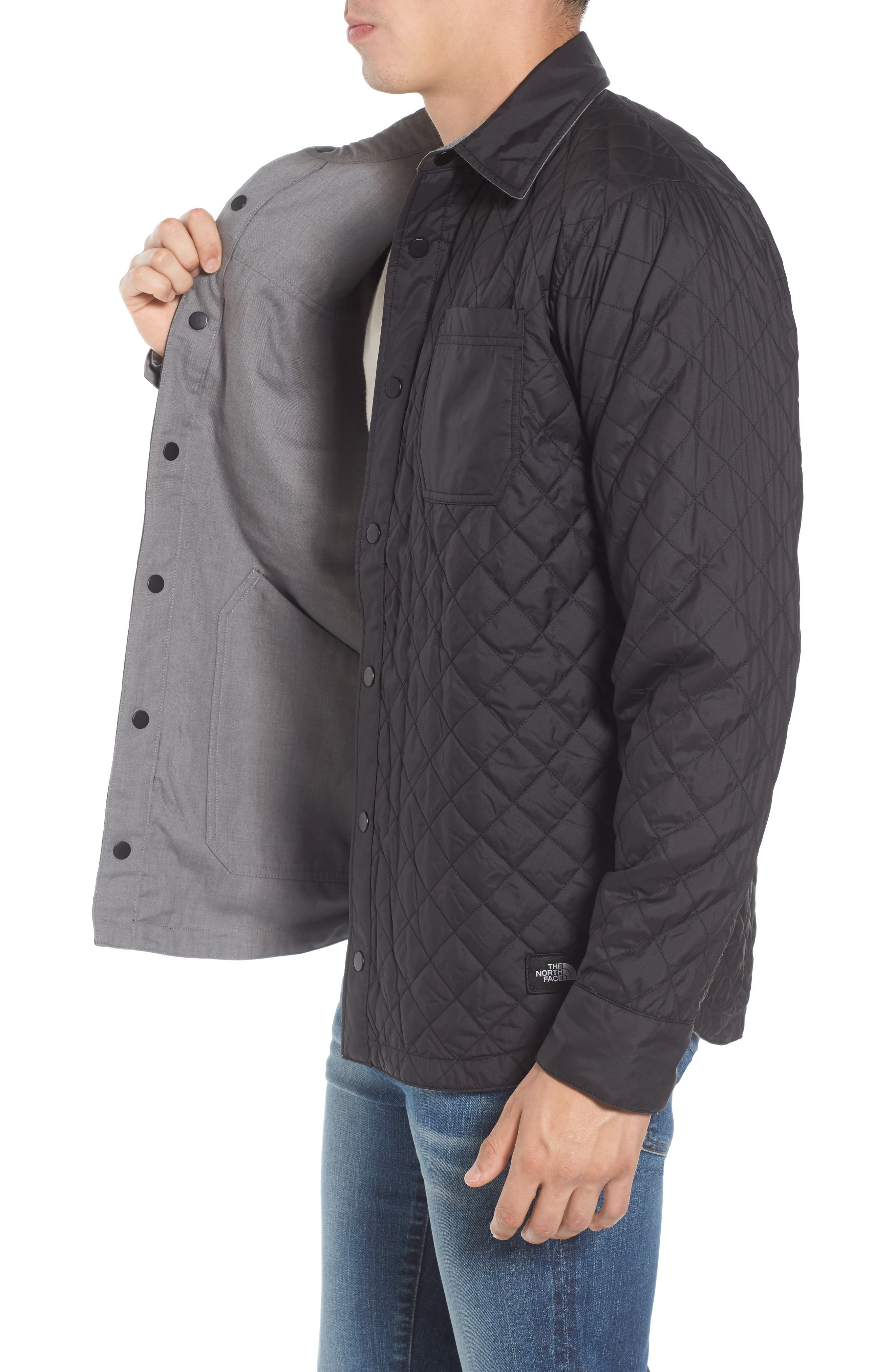 ,                             Fort Point Insulated Reversible Shirt Jacket,                             Alternate thumbnail 3, color,                             001