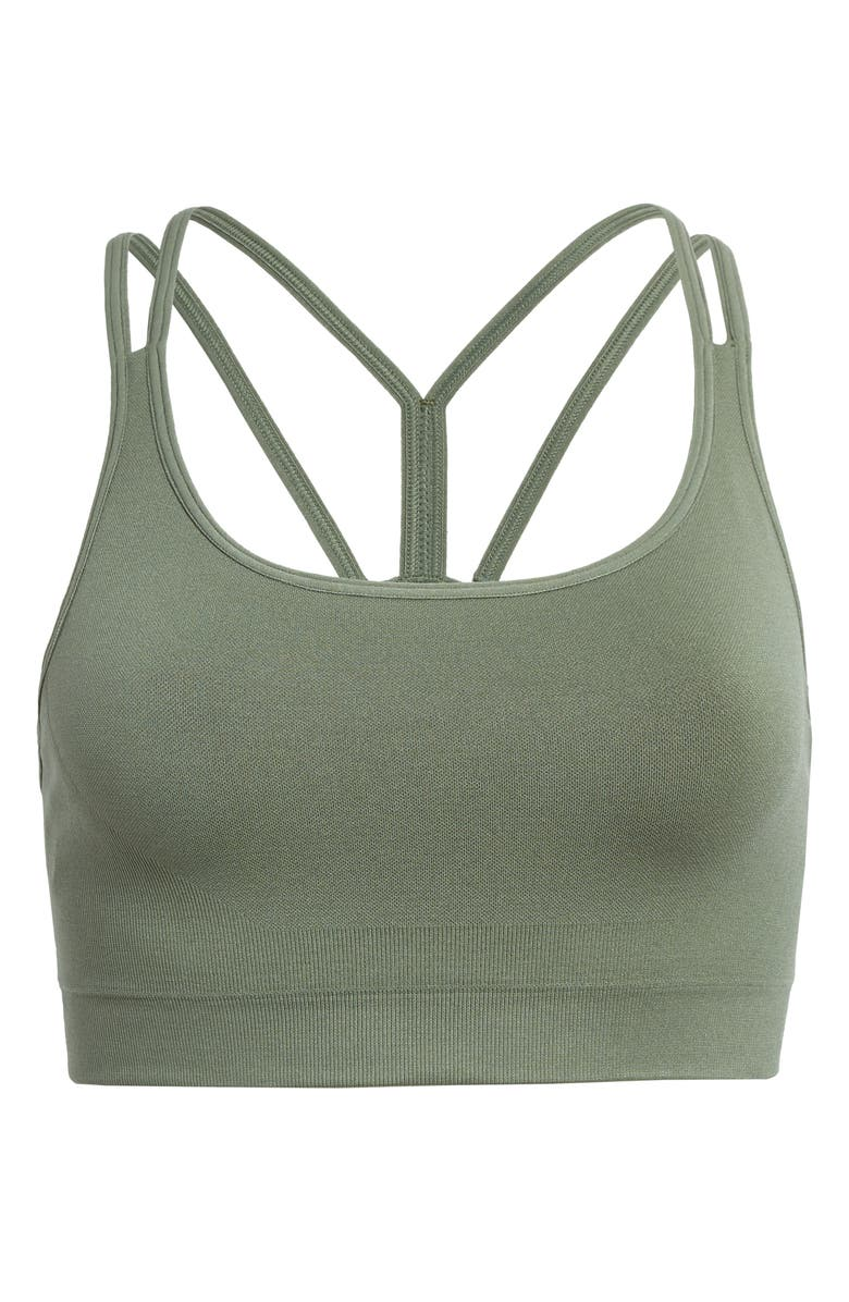 ZELLA Seamless Strappy Sports Bra, Main, color, GREEN AGAVE