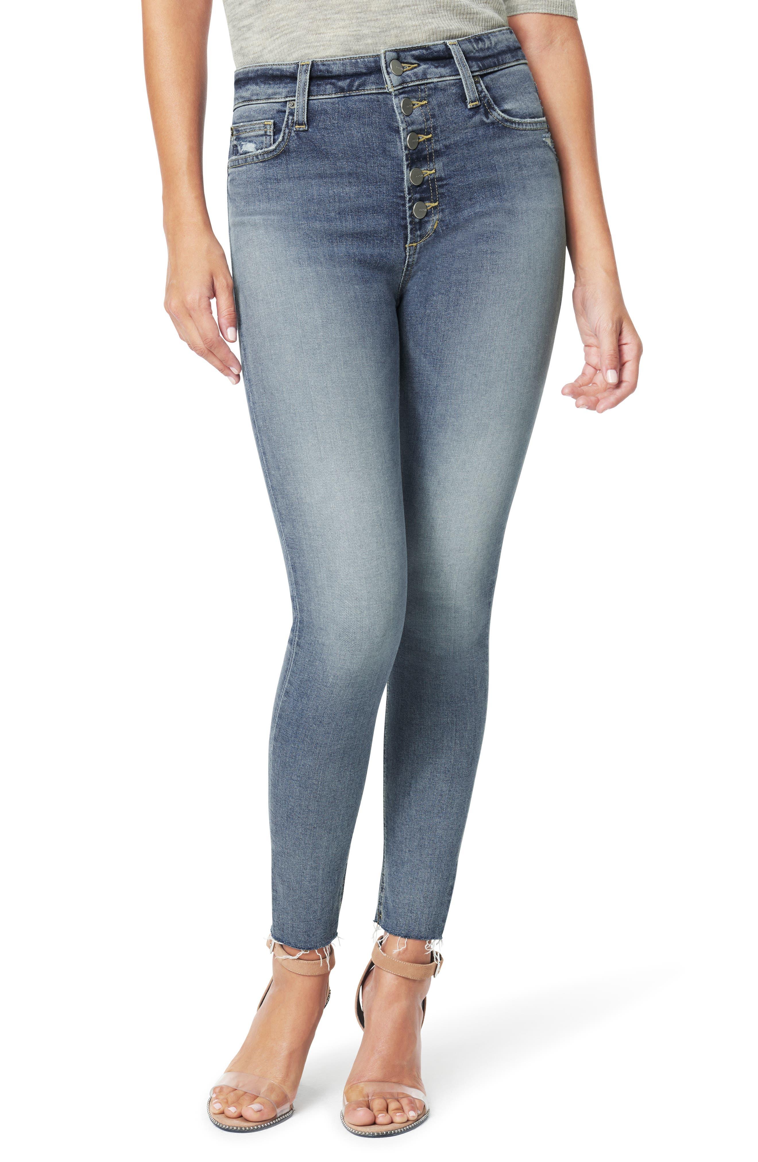 Women's Joe's Charlie High Waist Ankle Skinny Jeans,  33 - Blue
