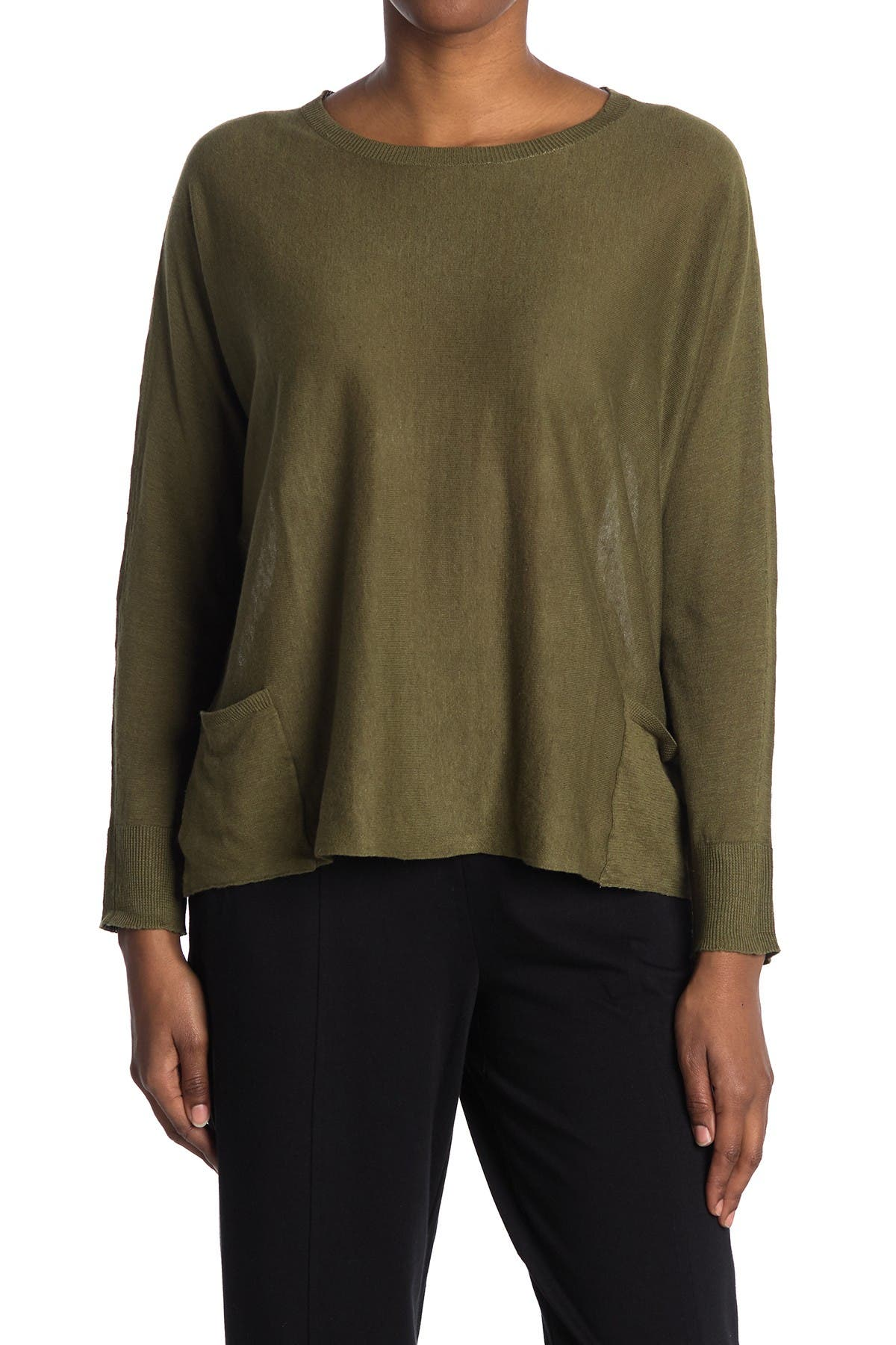 Image of Eileen Fisher Bateau Neck Box Top