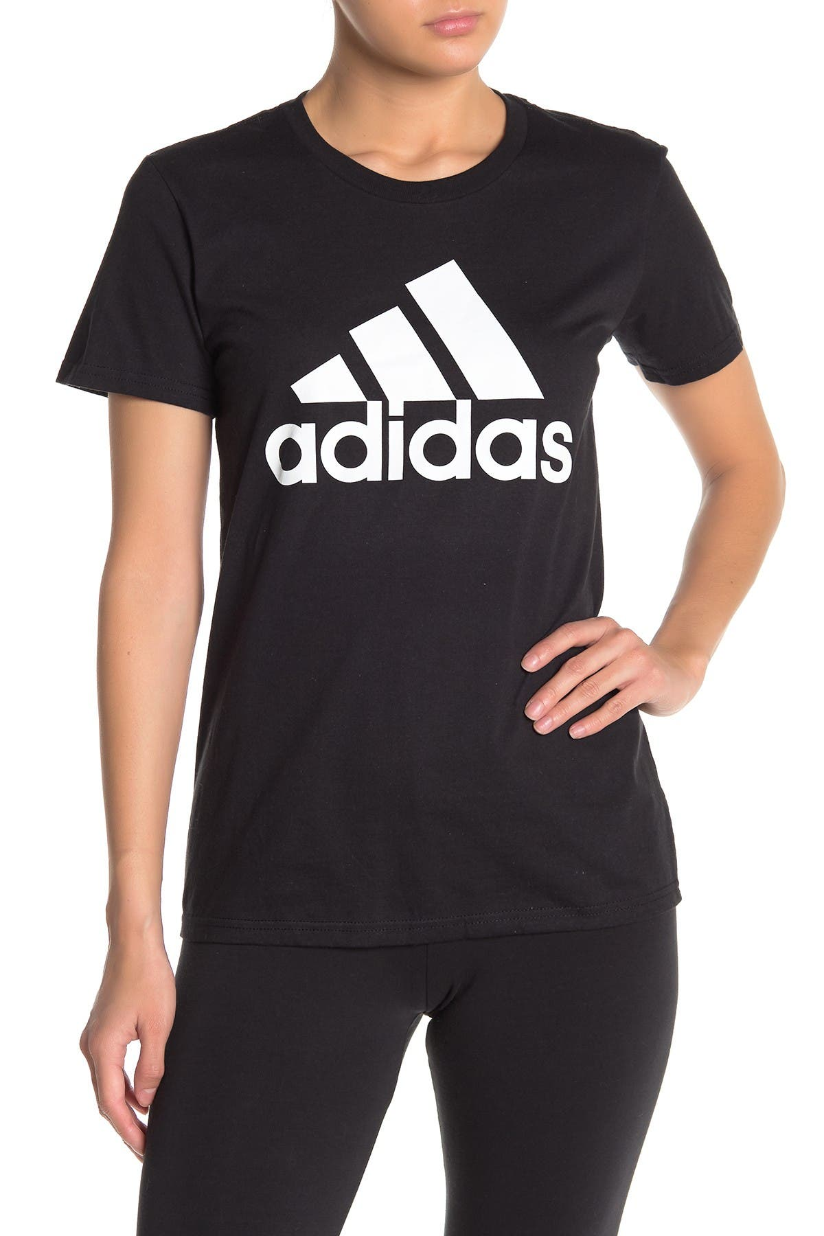 Image of adidas Basic Short Sleeve Logo T-Shirt