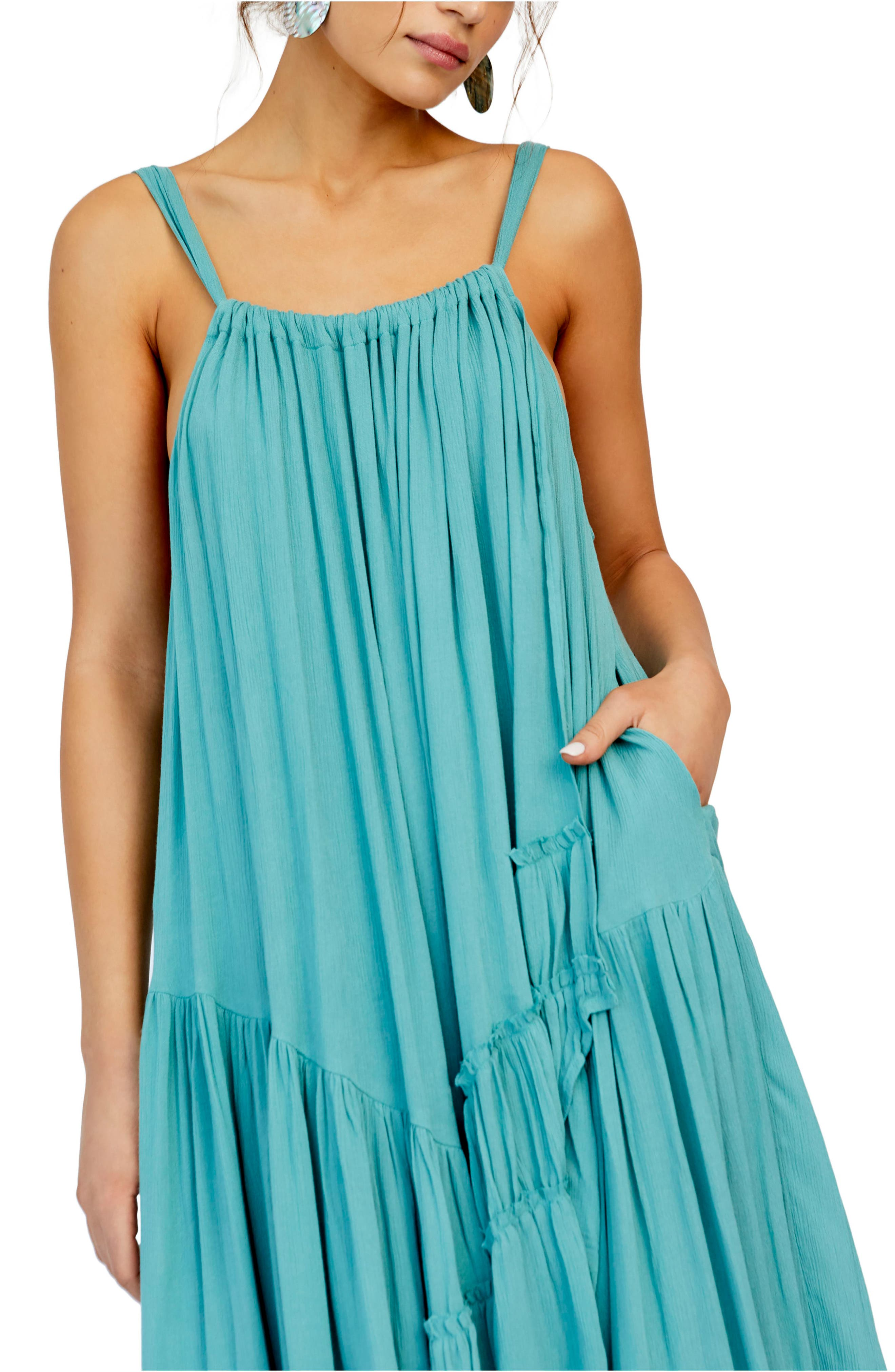 ,                             Endless Summer by Free People Bare It All Maxi Dress,                             Alternate thumbnail 3, color,                             BLUE