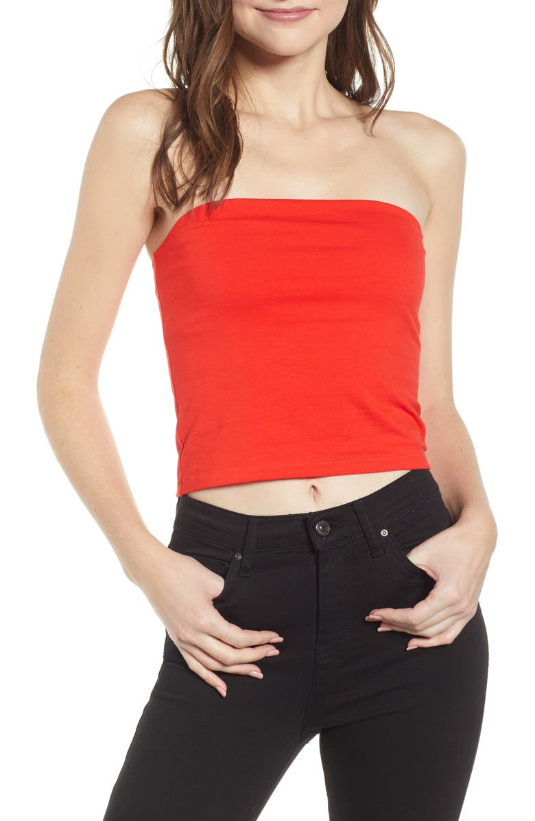 BP. Tube Top, Main, color, RED FIERY