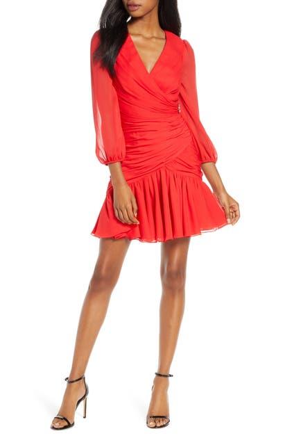 Jill Jill Stuart Dresses RUCHED CHIFFON COCKTAIL DRESS