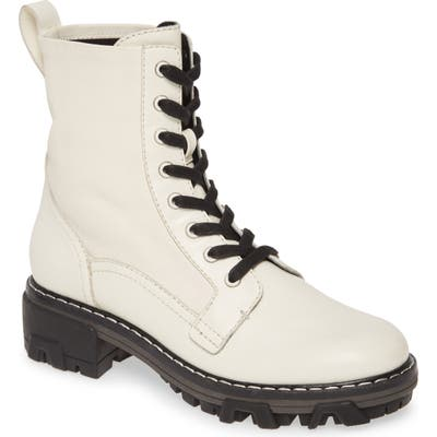 Rag & Bone Shiloh Combat Boot, White