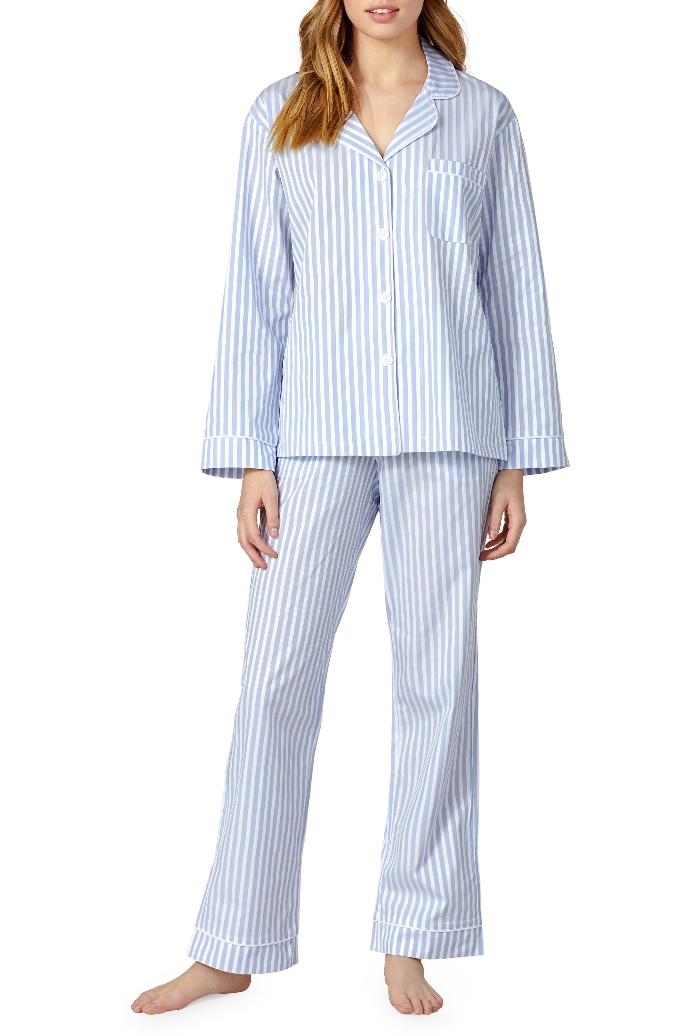 3D Stripe Organic Cotton Sateen Pajamas