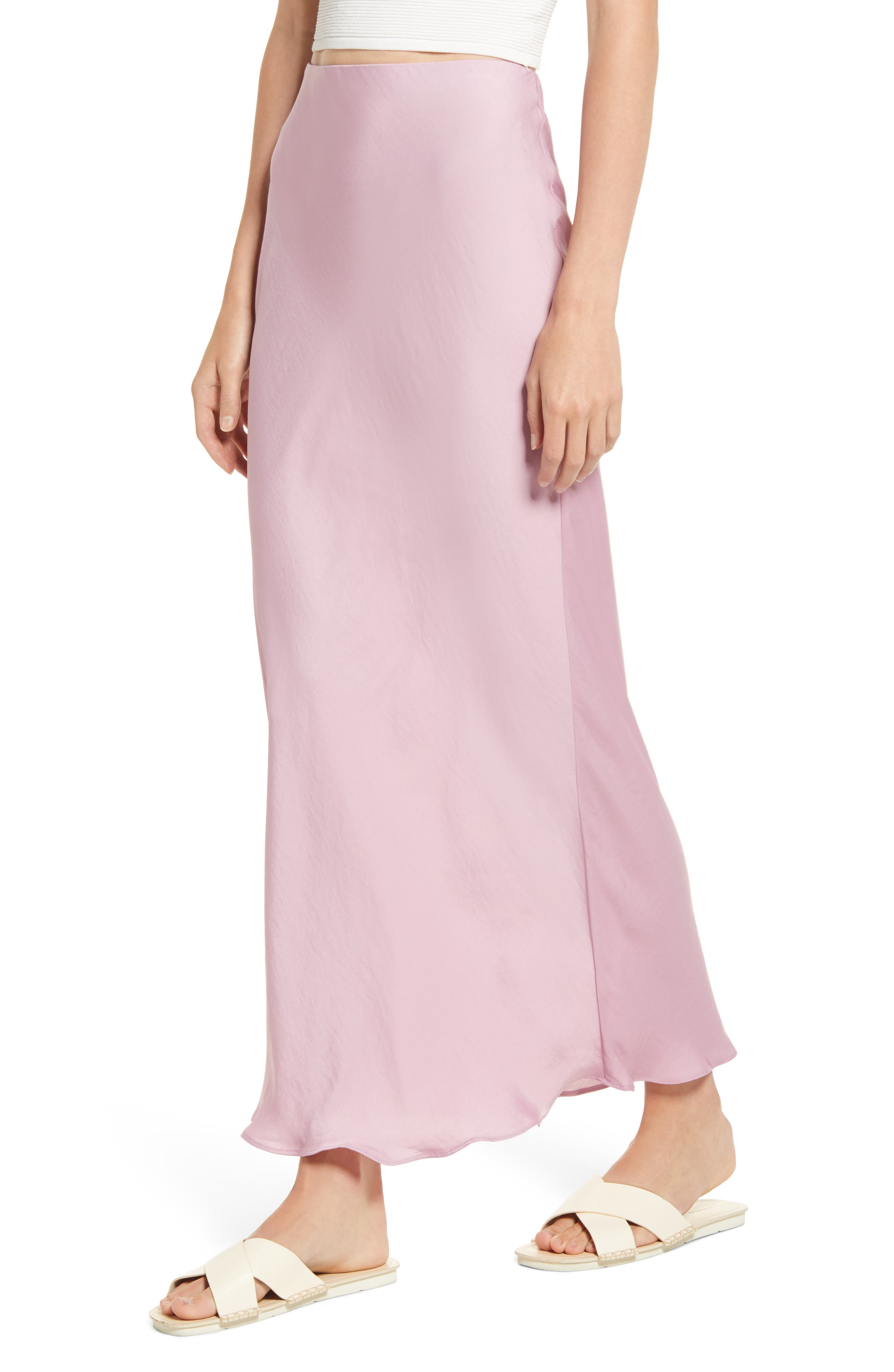Prepare to blush in this rose-colored slip skirt made of smooth-satiny fabric that\\\'s ideal for date night. Style Name: Free People Monterey Solid Slip Skirt. Style Number: 6099261. Available in stores.