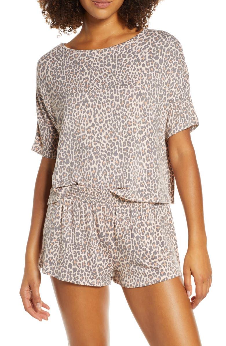 HONEYDEW INTIMATES Short Pajamas, Main, color, LEOPARD