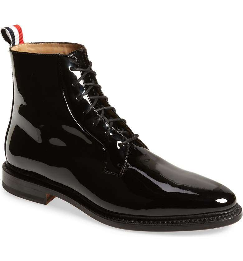THOM BROWNE Blucher Lace-Up Bootie, Main, color, 001