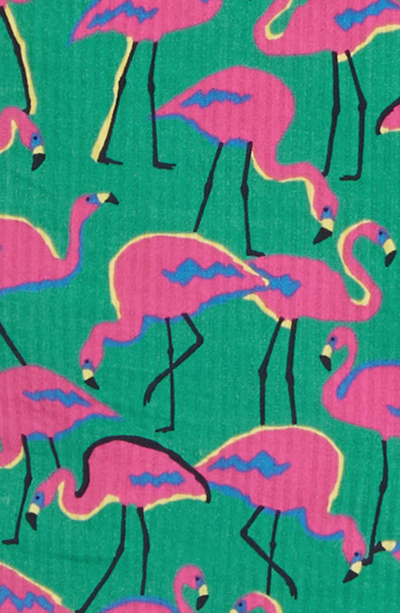 ,                             Riviera Slim Fit Flamingo Print Sport Shirt,                             Alternate thumbnail 6, color,                             LOOK FLAMINGOS
