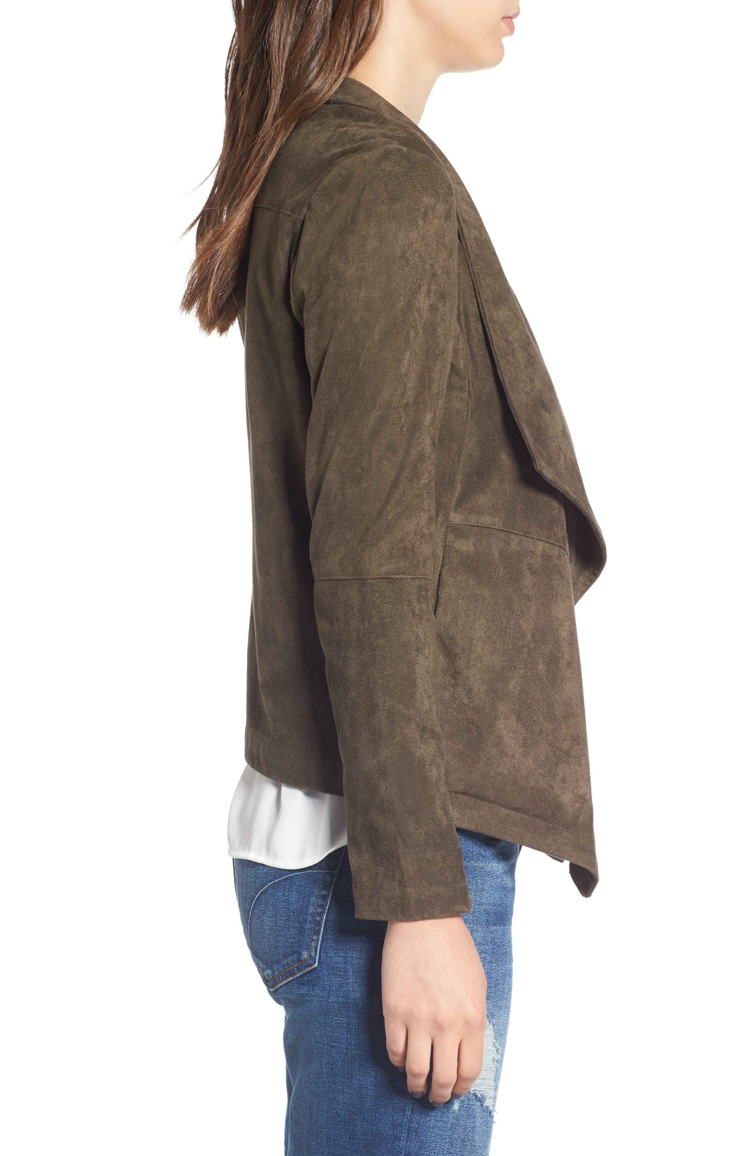 ,                             Nicholson Faux Suede Drape Front Jacket,                             Alternate thumbnail 84, color,                             341