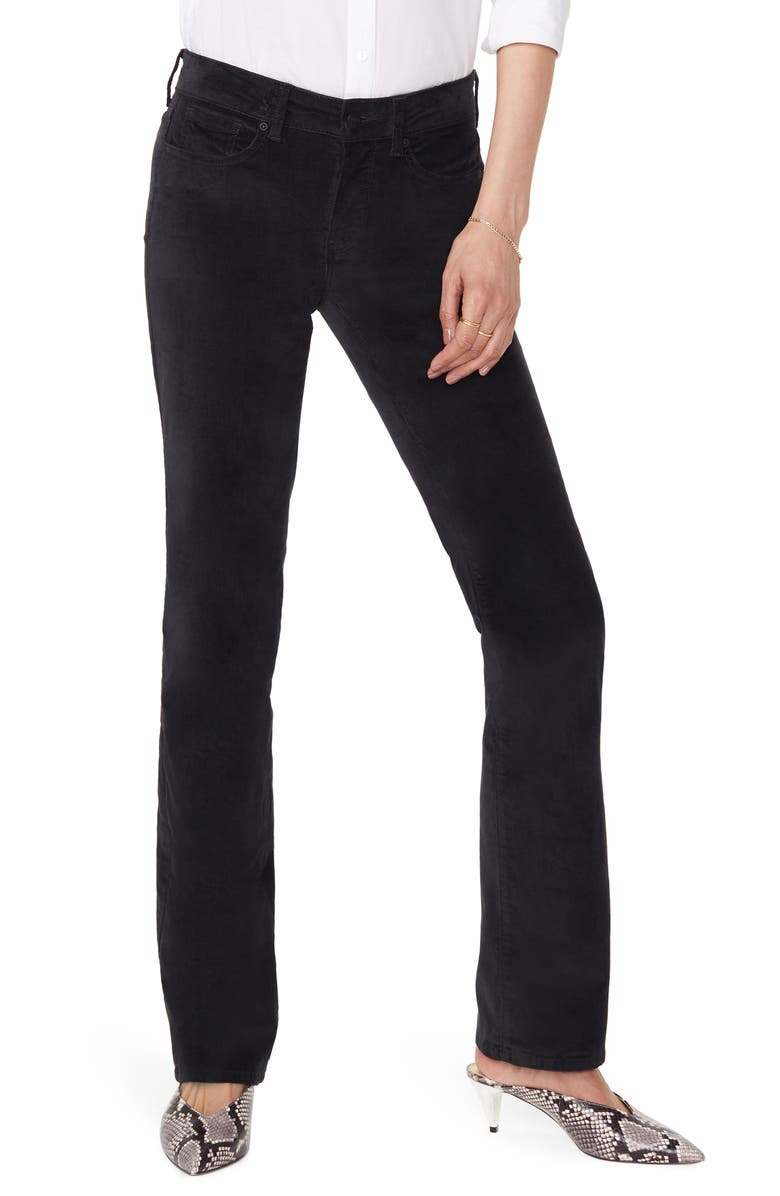 NYDJ Marilyn Straight Leg Jeans, Main, color, BLACK