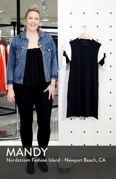 Stripe Sleeve Jersey T-Shirt Dress, sales video thumbnail