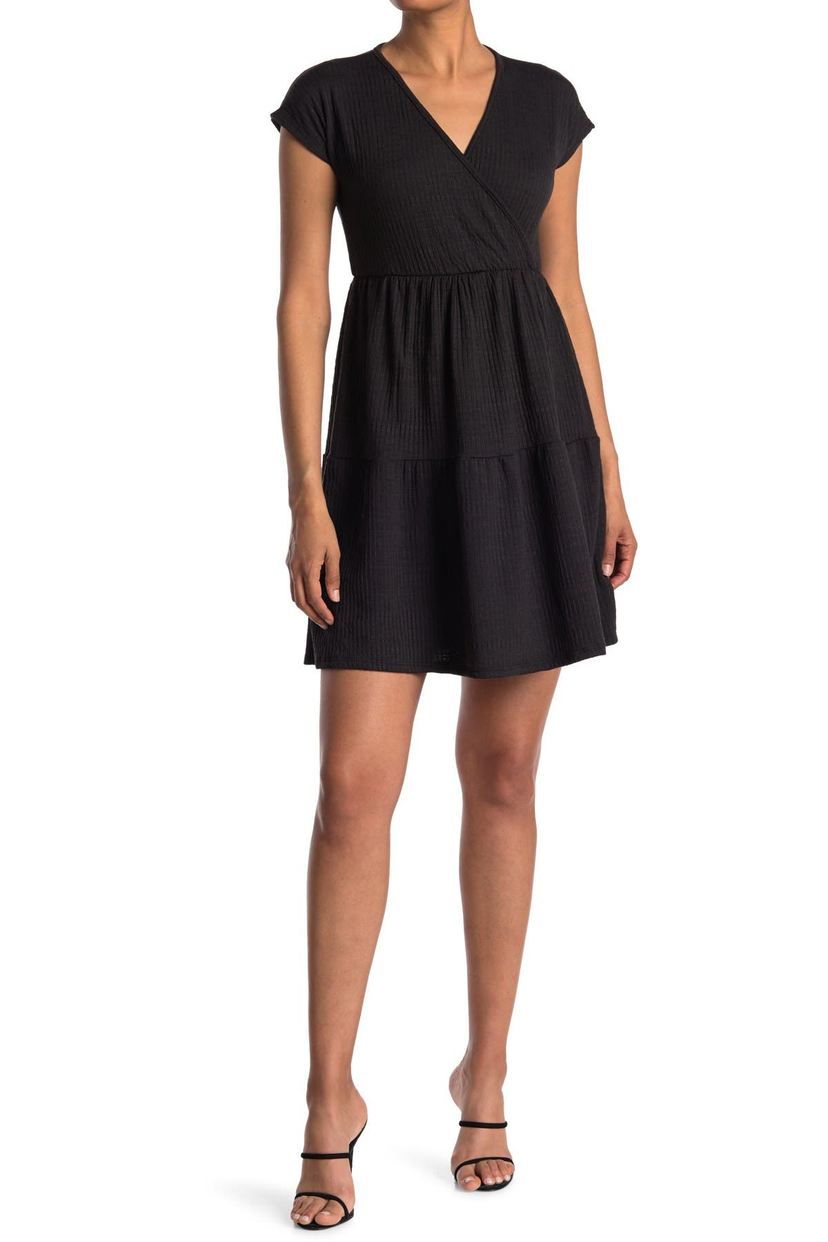 Image of Velvet Torch Ribbed Textured Flare Dress