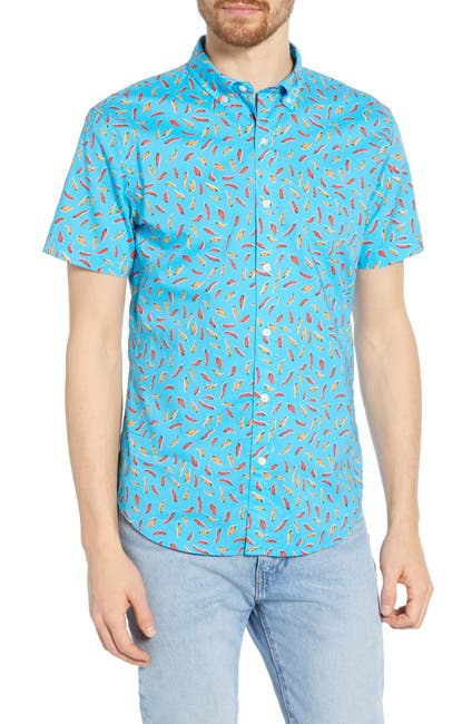 Image of Bonobos Riviera Slim Fit Print Sport Shirt