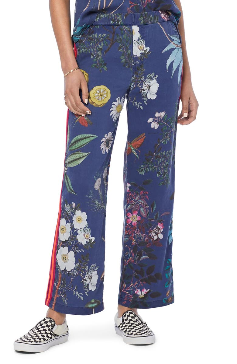 MOTHER The Quickie Greaser Floral Side Stripe Pants, Main, color, 400