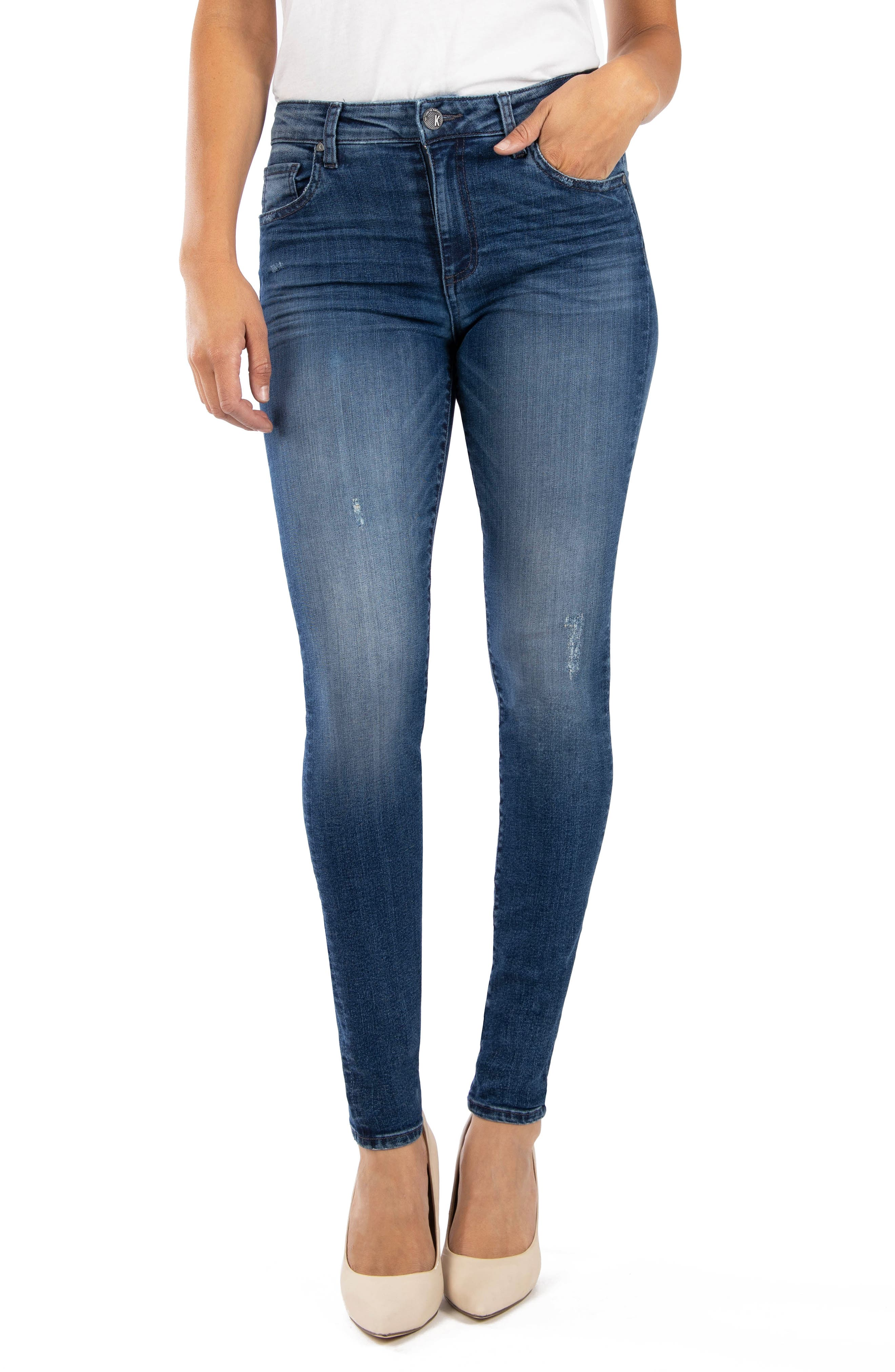 KUT from the Kloth Donna High Waist Ankle Skinny Jeans (Allowed Alwdm)