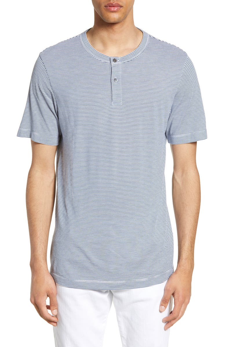 THEORY Anemone Trim Fit Stripe Henley, Main, color, 400