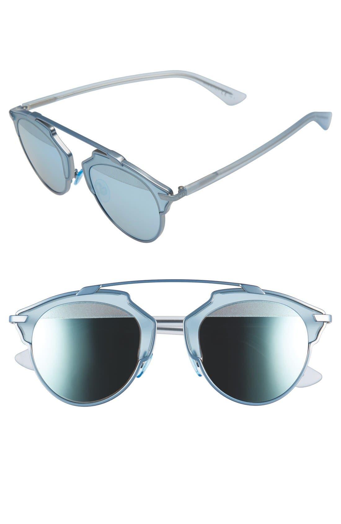 ,                             So Real 48mm Brow Bar Sunglasses,                             Main thumbnail 51, color,                             402