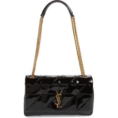 Saint Laurent Jamie Patchwork Leather Shoulder Bag - Black