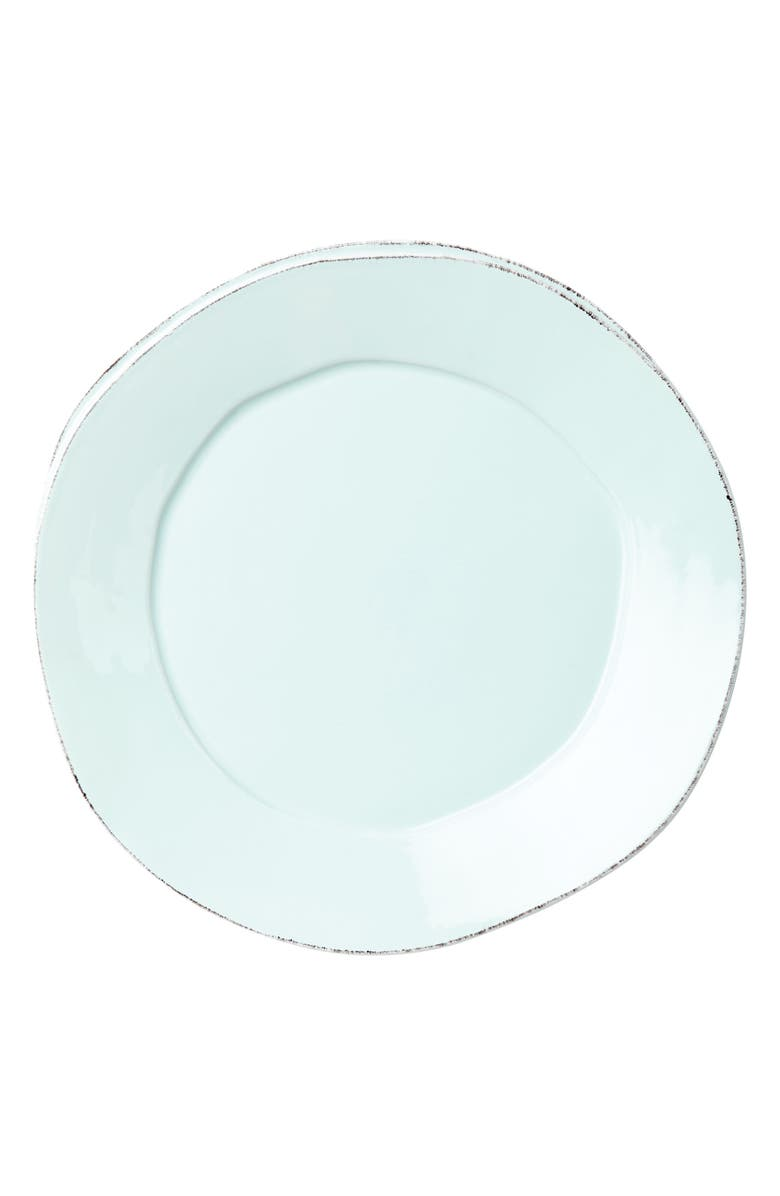 VIETRI Lastra Stoneware Dinner Plate, Main, color, AQUA