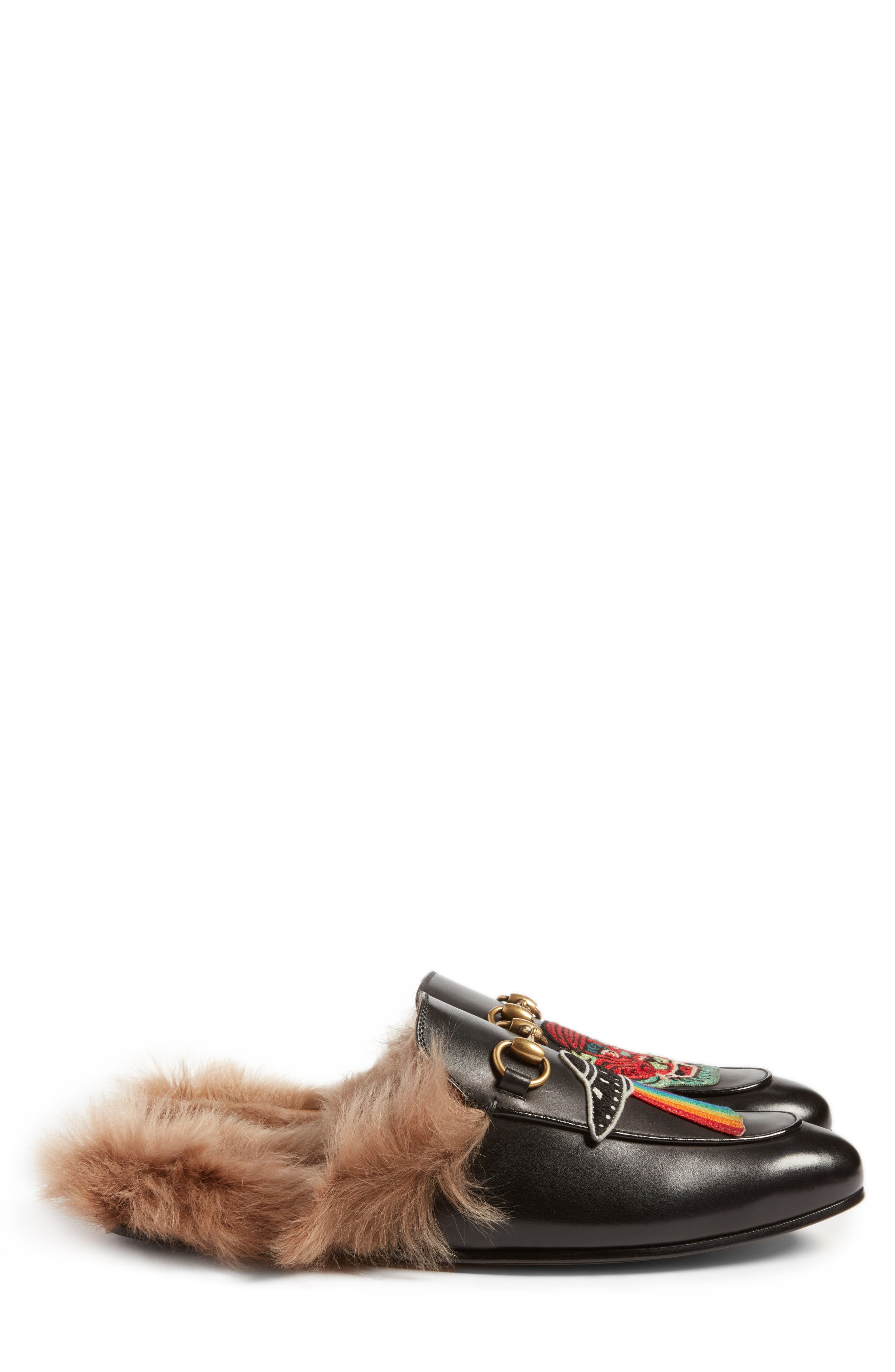 ,                             Princetown Genuine Shearling Lined Mule Loafer,                             Alternate thumbnail 14, color,                             007
