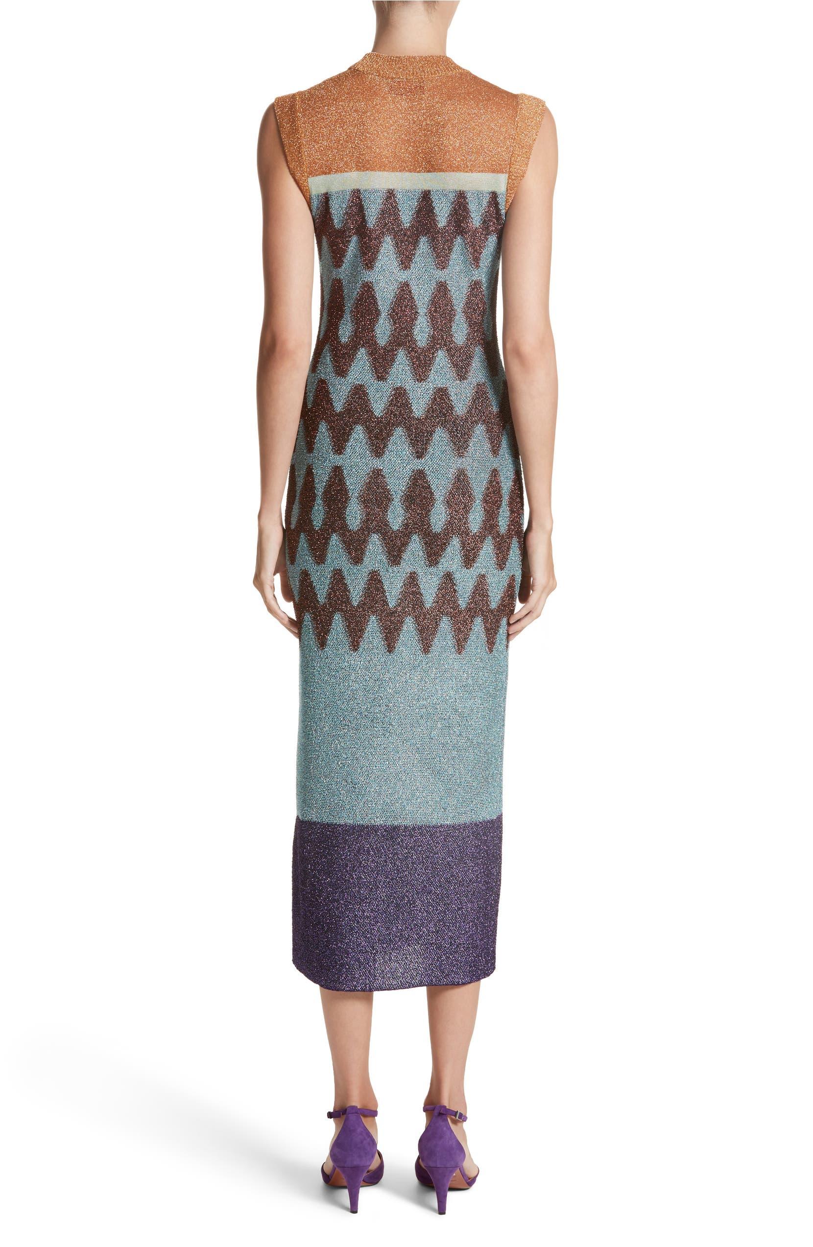 8db632728 Missoni Colorblock Metallic Knit Midi Dress | Nordstrom
