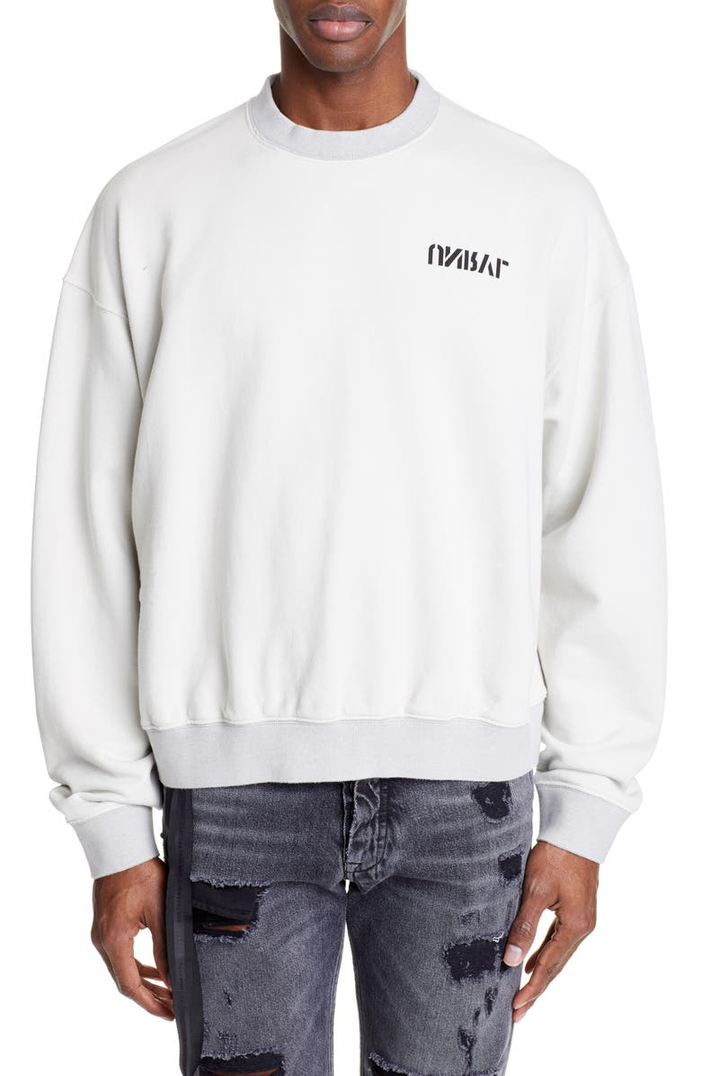 UNRAVEL PROJECT Skull Graphic Terry Sweatshirt, Main, color, 250