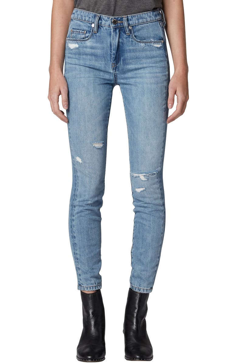 BLANKNYC The Bond Distressed Jeggings, Main, color, HYBRID LIGHT WASH
