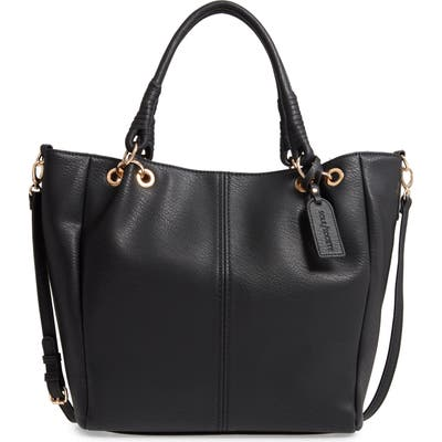 Sole Society Rubie Faux Leather Tote - Black