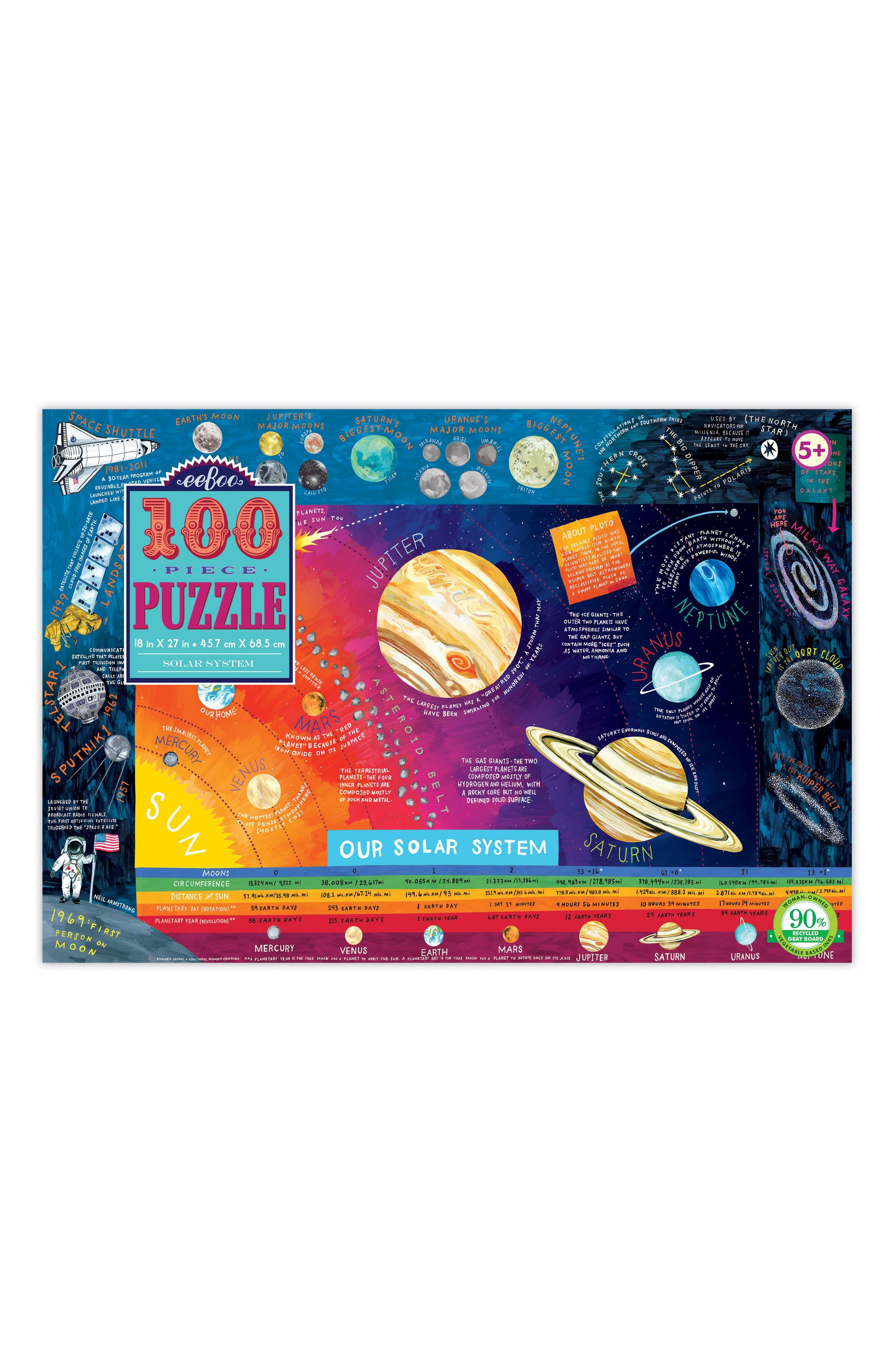 Eeboo Solar System 100Piece Puzzle