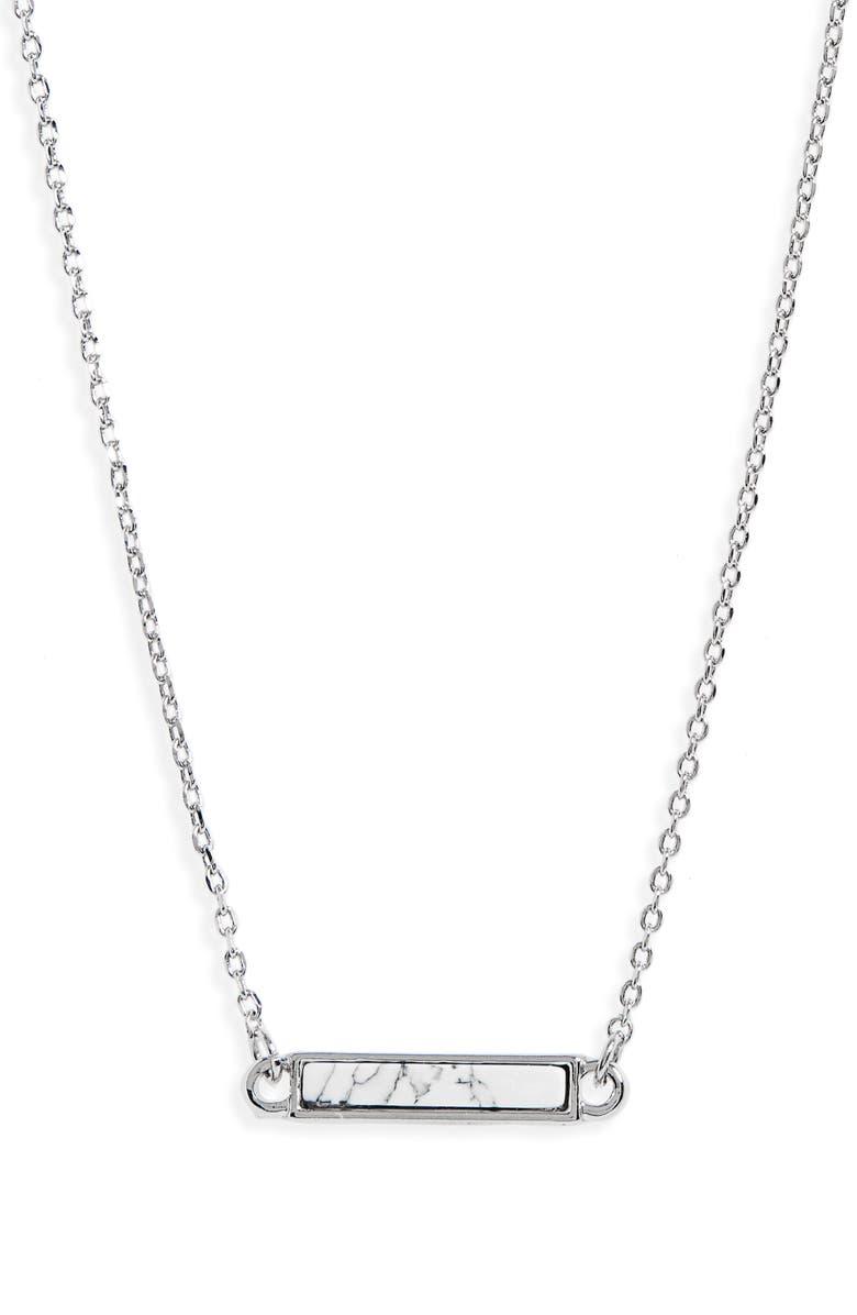 BP. Stone Bar Pendant Necklace, Main, color, 100