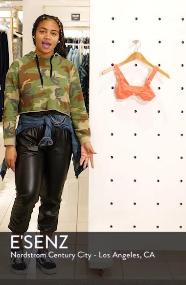 Velour Knot Triangle Bikini Top, sales video thumbnail